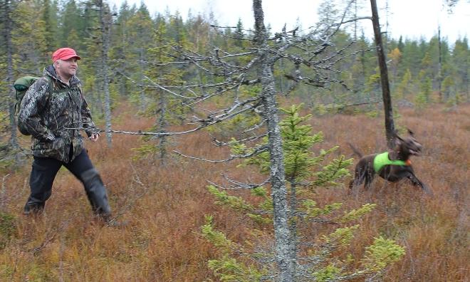 Hur laddar man bäst inför, under och efter jaktturen? På bild Svante Morén och Milito.