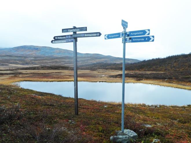 Vi bodde i Aigertstugan. Vi följde inte Kungsleden dit utan gick en genväg som Lilian visste om.