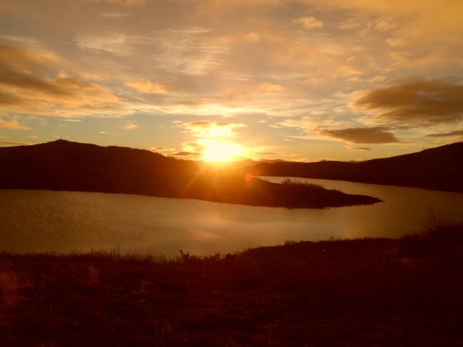 Första morgonen chockades jag nästan av den vackra soluppgången.