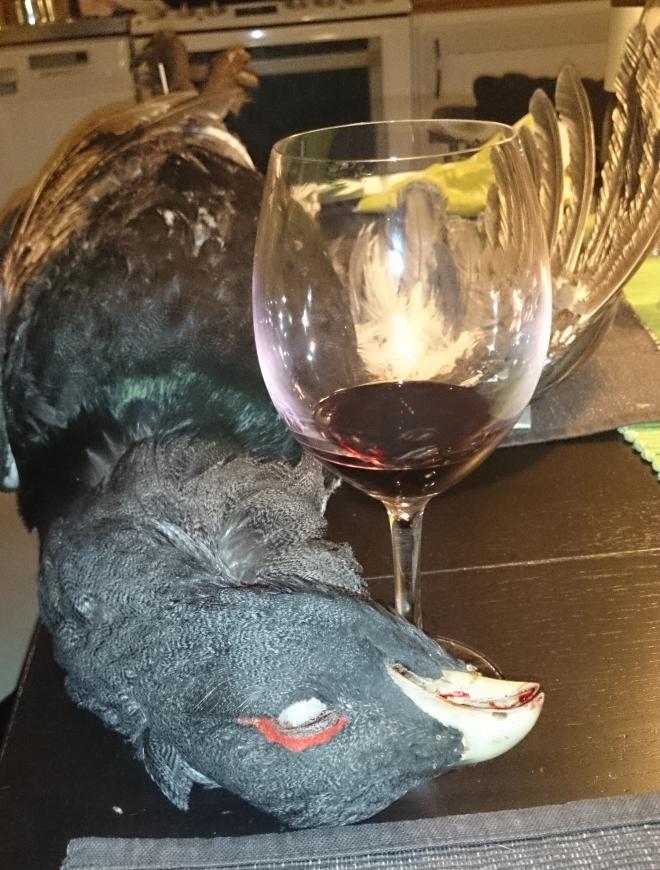 Tjäder och vin – en god kombination! =)
