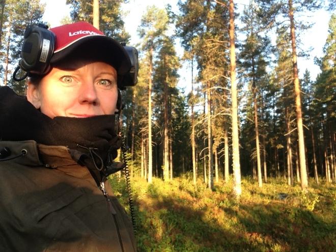Brr, kallt på första passet. Skönt när solen letar sig in.